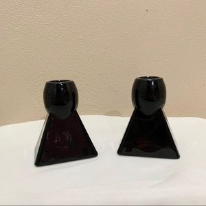 Vintage Art Deco candle stick holders